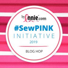 Sewpink blog hop logo