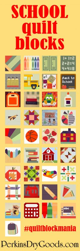 School quilt blocks image
